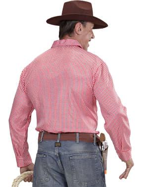 Плюс размер на родео каубойската риза