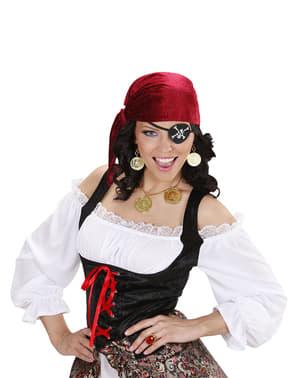 Conjunto de colar e brincos pirata para mulher