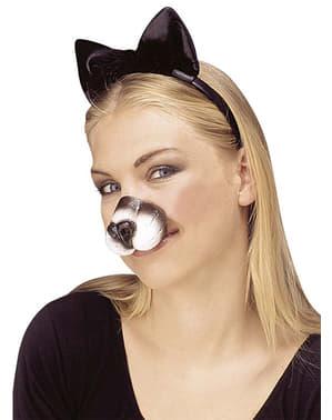 Neus van snoezige kat voor volwassenen