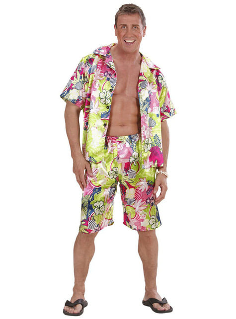 Disfraz de hawaiano feliz para hombre