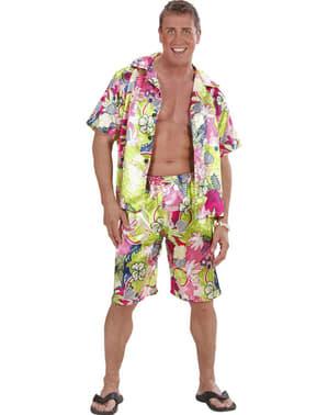 Déguisement hawaïen joyeux homme grande taille