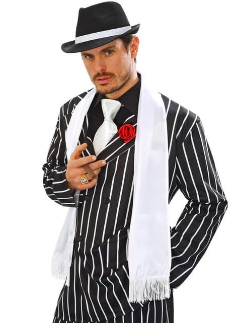 Bufanda blanca de raso para adulto - para tu disfraz