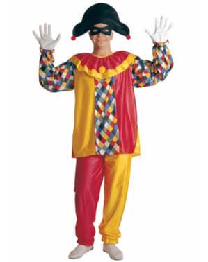Disfraz de arlequín multicolor para hombre
