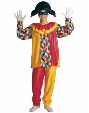 Man's Multi-coloured Harlequin Costume