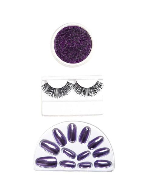 Kit ongles maquillage et cils de sorcière femme