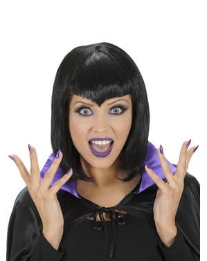 Hexen Fingernägel Schmink und Wimpern Set für Damen