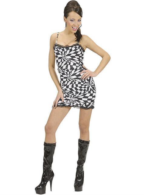 Disfraz de disco sugerente para mujer