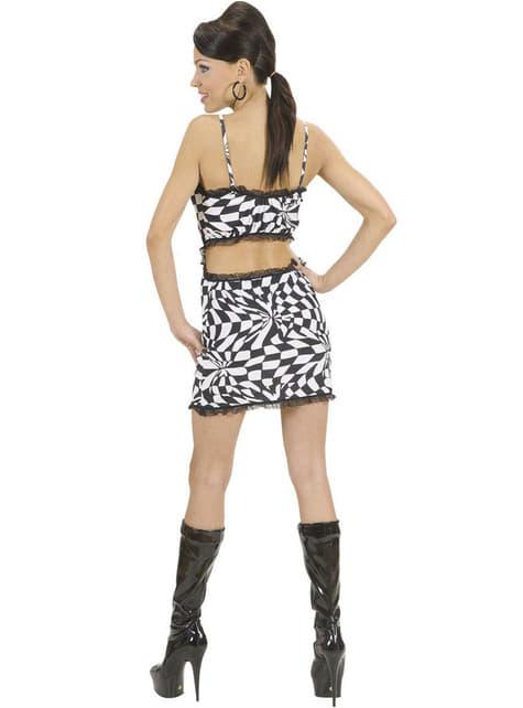 Disfraz de disco sugerente para mujer - original