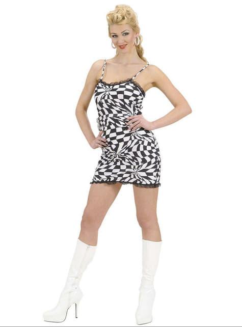 Disfraz de disco sugerente para mujer - traje