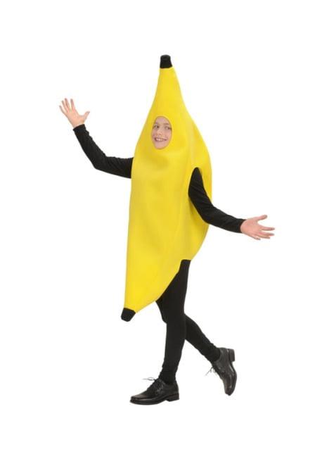 Fato de banana divertida infantil