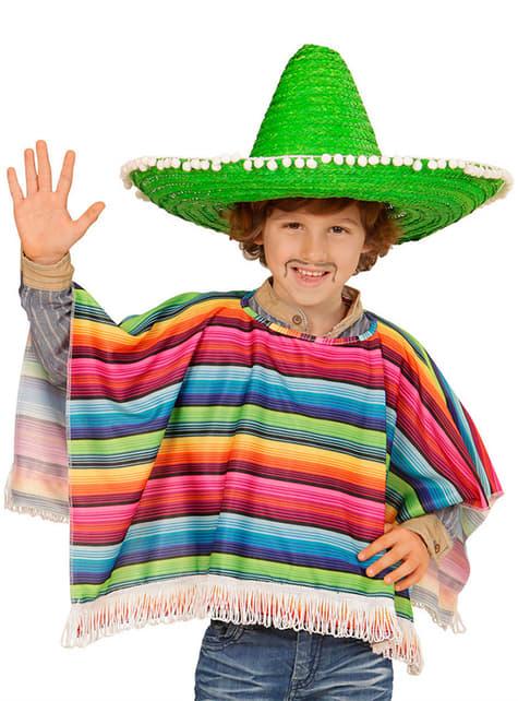 Chlapecké mexické pončo barevné
