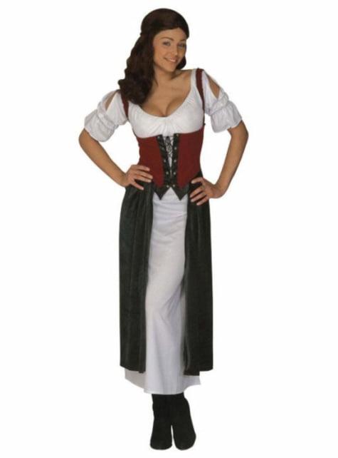 Middeleeuwse sexy barmeisje kostuum voor vrouw