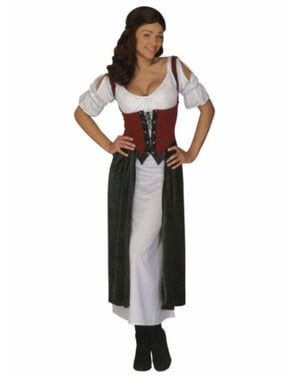 Naisten Seksikäs keskiaikainen tavernaneito-asu