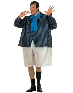 Disfraz de colegial regordete para hombre