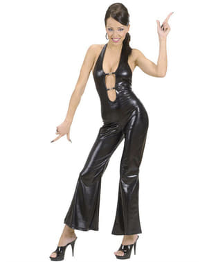 Costume da bellezza disco nero per donna