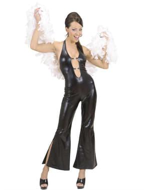 Disco Schönheit Kostüm schwarz für Damen