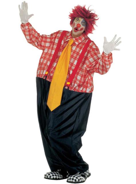 Man's Fat Clown Costume