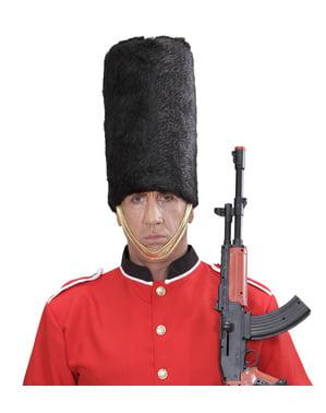 Aikuisten englantilainen kuninkaallinen vartija- hattu