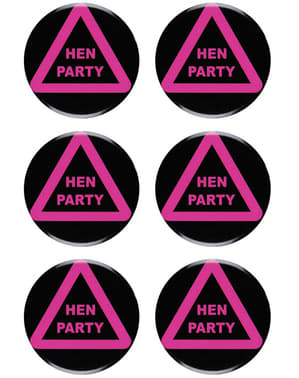 Set of 6 Hen Night Badges