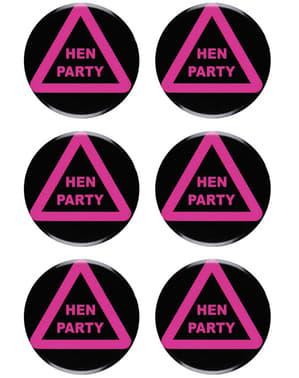6 buttons voor vrijgezellenfeest