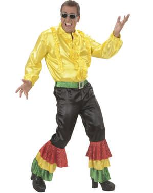 Pantaloni negri de rumba cu paiete pentru bărbat mărime mare