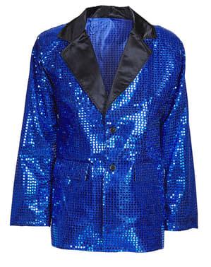 Jaleca azul com lantejoulas para homem