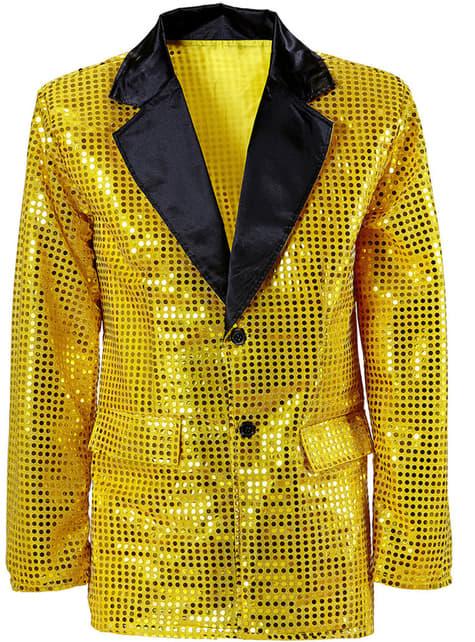 Gouden jas met lovertjes voor mannen
