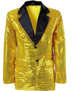 Jachetă aurie cu paiete pentru bărbat