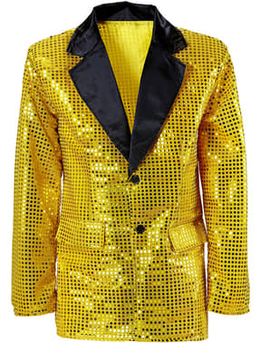 Pánské sako s flitry zlaté