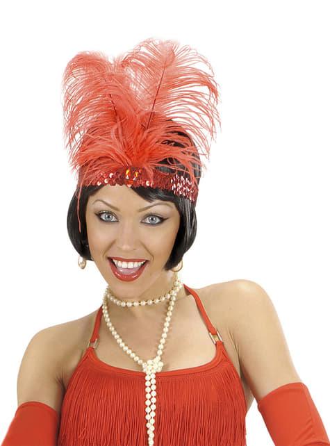 Cinta de pelo años 20 roja para mujer - para tu disfraz