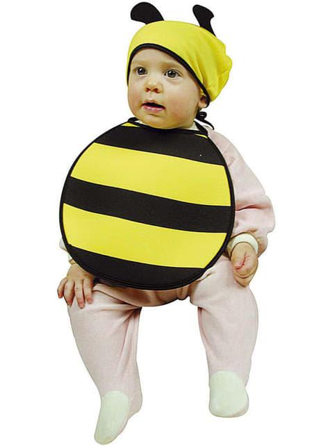 Bavoir et chapeau abeille rose bébé