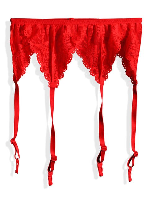 Woman's Red Lace Garter