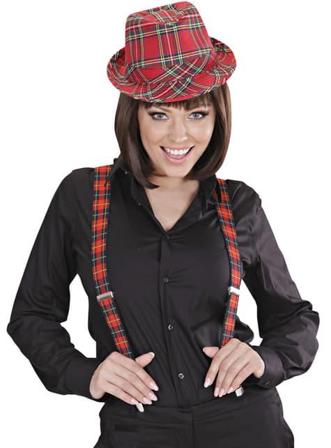 Suspensórios escoceses para adulto