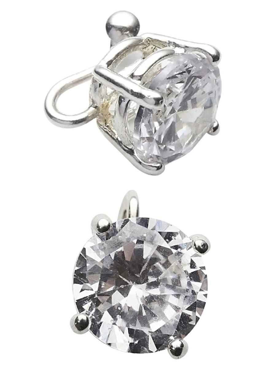 boucles d 39 oreilles diamants pour d guisement funidelia. Black Bedroom Furniture Sets. Home Design Ideas