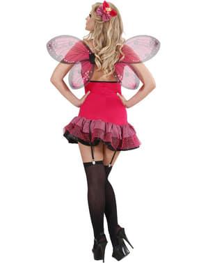 Strak Vlindertje kostuum voor vrouw