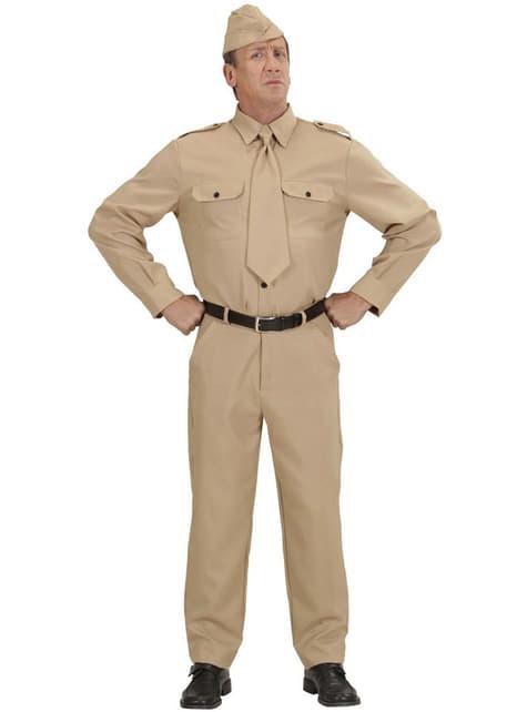 Strój żołnierz z II wojny światowej męski