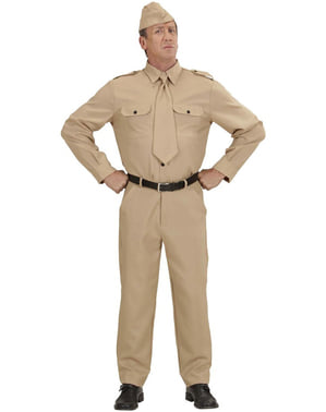 Man's 2nd World War Soldier Costume