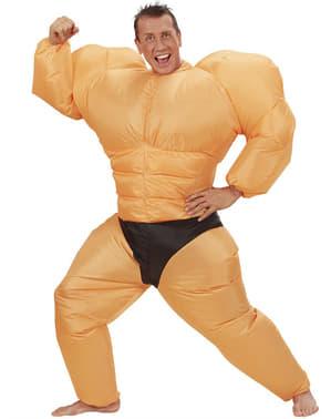 Aufblasbares Muskelprotz Kostüm für Herren