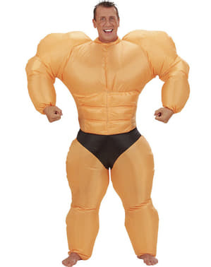 Oppustelig muskeldragt til mænd