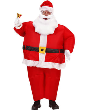 Oppblåsbart Julenisse kostyme til menn