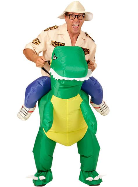Fato de ginete de dinossauro para adulto