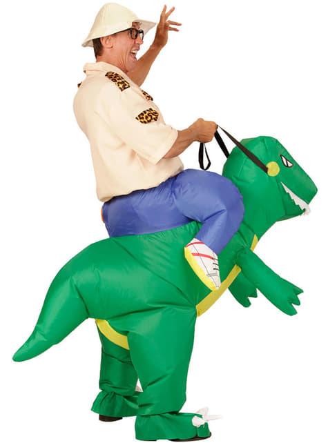 Disfraz de jinete de dinosaurio para adulto - original