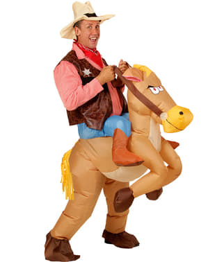 Ride on Cowboy Costume with Inflatable Horse