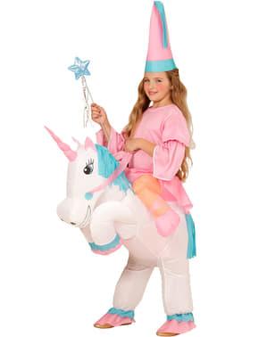 Надуваем детски костюм на еднорог
