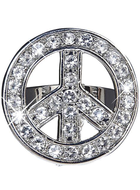 Anel da paz com brilhantes para adulto