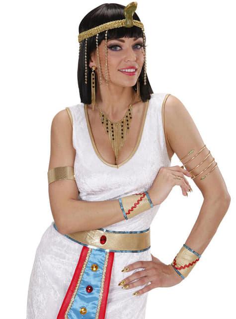 Pendientes y collar de diosa egipcia para mujer - para tu disfraz