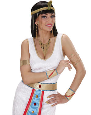 Kolczyki i naszyjnik egipskiej królowej damskie