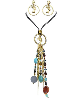 Cercei și colier Cleopatra pentru femeie