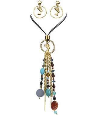 Kleopatra øreringe og halskæde til kvinder