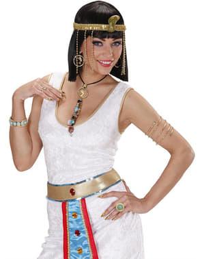 Brincos e colar Cleópatra para mulher